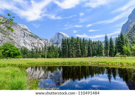 Beautiful Yosemite National Park - stock photo