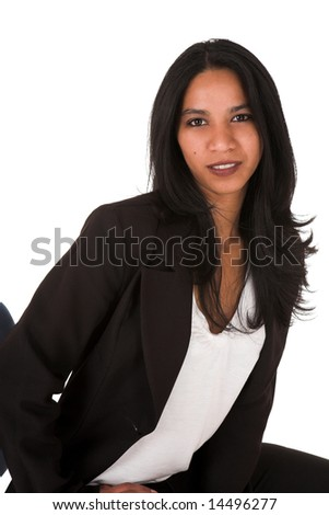 Businesswoman Busty indian