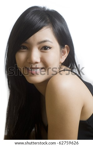 Beautiful young Asian woman.
