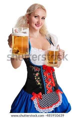Even more oktoberfest beer girl cleavage topic, very