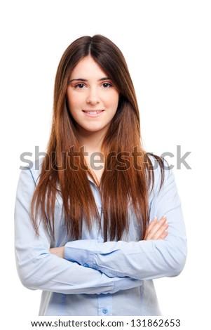 Beautiful young businesswoman portrait