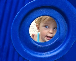 beautiful young child at playground