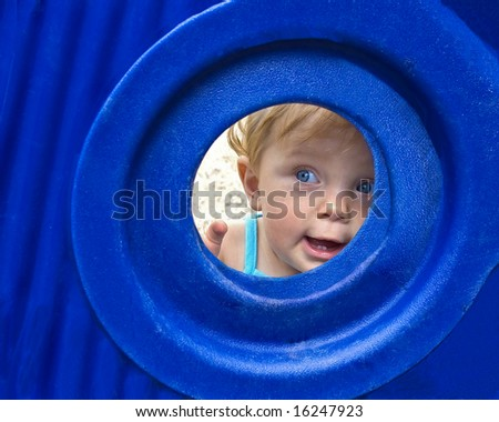 beautiful young child at playground