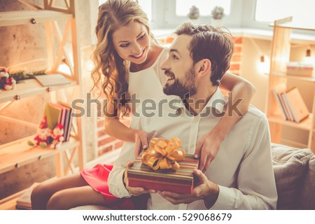 beautiful young couple is...