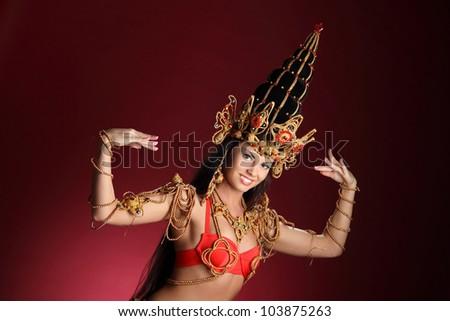 beautiful young girl in dance costume
