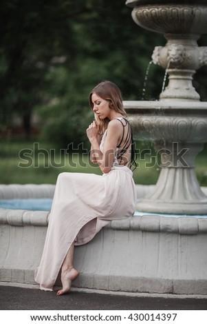 beautiful young girl in...