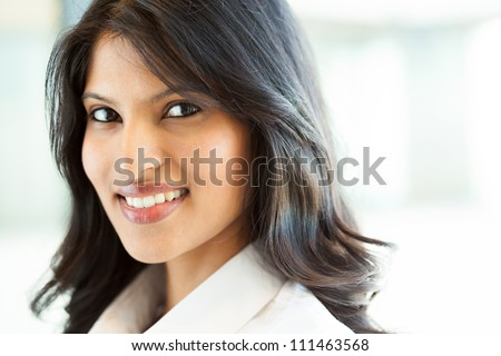 beautiful young indian businesswoman closeup