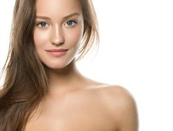 Beautiful young model natural make up