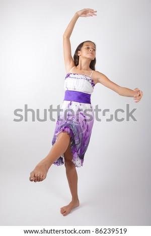Beautiful young pan asian ballerina