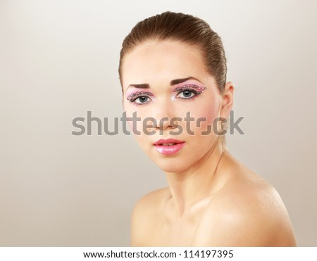 Beautiful young pretty woman's portrait