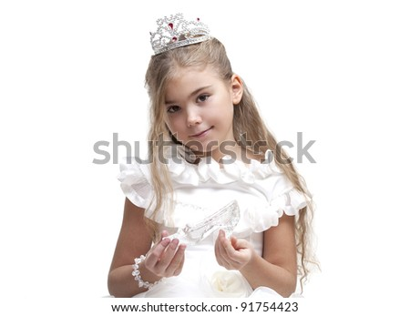 Beautiful young princess waiting for her prince