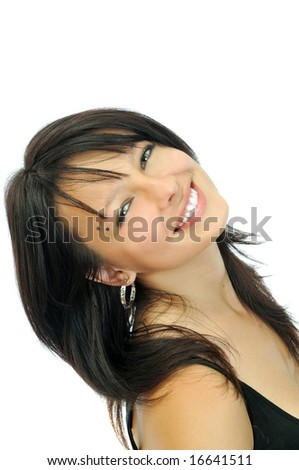 beautiful young smiling girl
