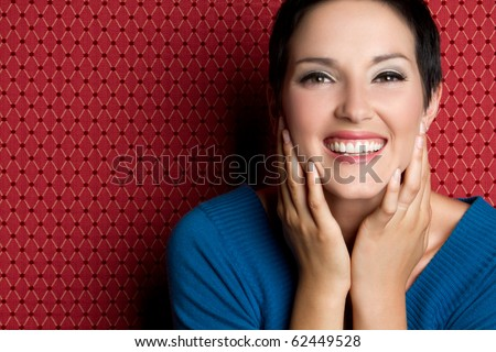 Beautiful young smiling laughing woman