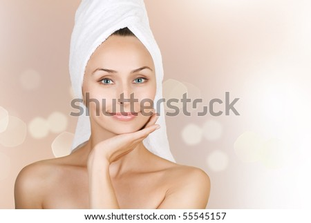 Beautiful Young Woman after bath.