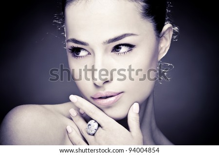 beautiful young woman close up portrait