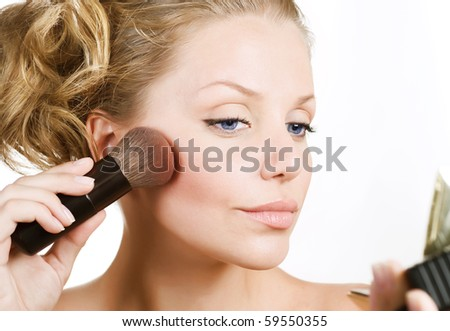 Beautiful Young Woman Face.Make-up concept