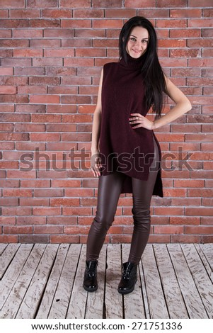 Beautiful young woman in a trendy shoes #271751336