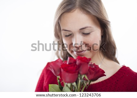 Beautiful young woman in love