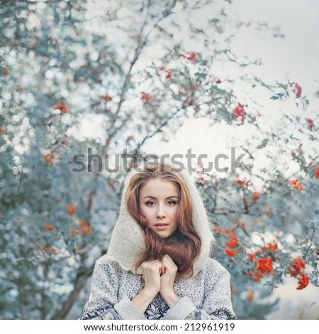 beautiful young woman in...