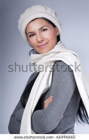 Beautiful young woman in warm clothing