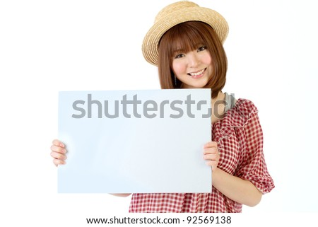 Beautiful young woman. Portrait of asian woman. - stock photo