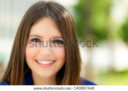 Beautiful young woman portrait outdoor