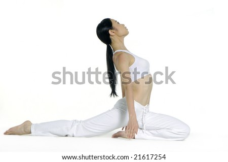 Beautiful young woman practicing yoga