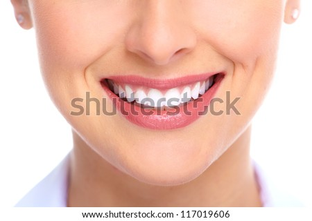 Beautiful young woman smile Dental health