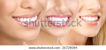 Beautiful young woman teeth. - stock photo