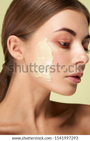 Beautiful Young Woman with Clean Fresh skin. Cosmetological clinic. Healthcare, clinic, cosmetology