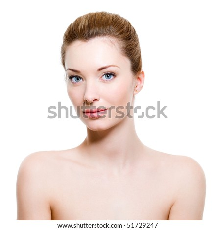 Beautiful young woman with healthy fresh skin