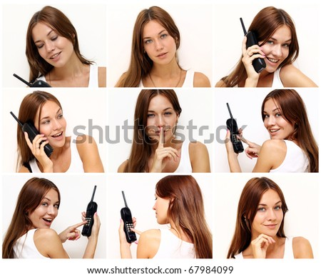 Beautiful young women with phone