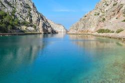 Beautiful Zavratnica cove, cutting deeply into the mainland. Northern Adriatic, Croatia