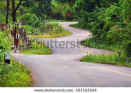 Beautiful zigzag road #581563264