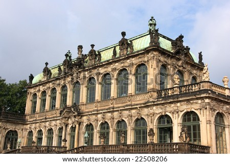 Beautiful Zwinger Palace in Dresden, Sachsen, Germany