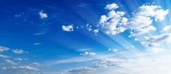 Beautifull Blue Sky with Cloud Watercolor