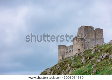 Beautifull castle of Rocca Calascio, famous for the location of the famous movie. In the province of L'Aquila, Abruzzo, Italy #1008054580