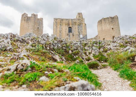 Beautifull castle of Rocca Calascio, famous for the location of the famous movie. In the province of L'Aquila, Abruzzo, Italy #1008054616