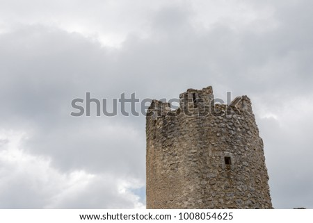 Beautifull castle of Rocca Calascio, famous for the location of the famous movie. In the province of L'Aquila, Abruzzo, Italy #1008054625