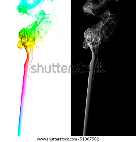 beautifull colorful abstract smoke pattern isolated