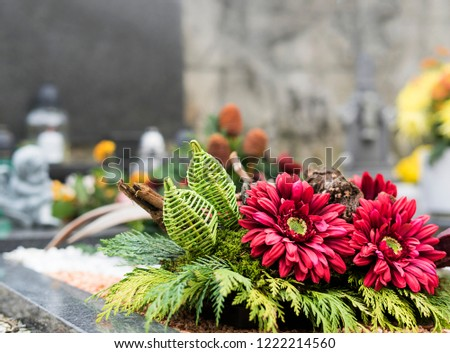 Beautifull decoration on a cemetery