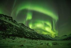 Beautifull northernlights in Lofoten, Norway