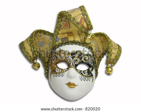 Beautifull Venetian Mask Isolated On White Stock Photo 820020 ...