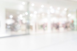 Beautifully blurred shopping center background with bokeh effect