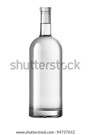 Beautifully Clear Lit Wine Bottle With Path