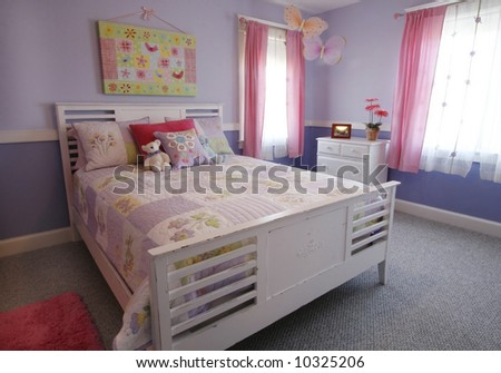 beautifully decorated girl's bedroom