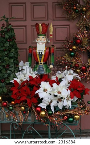 beautifully decorated holiday doorway
