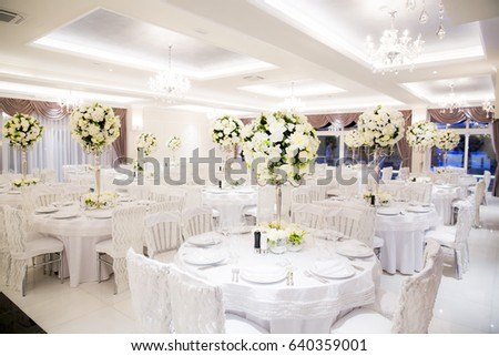 Beautifully Decorated In White Colours Wedding Hall Ez Canvas