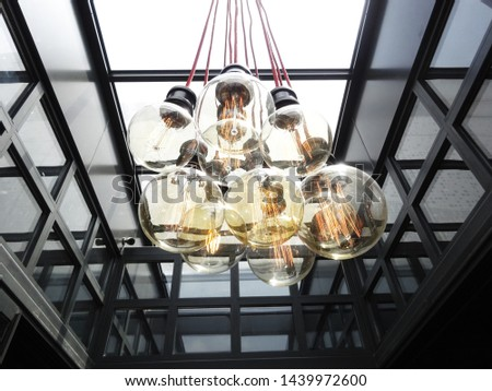 Beautifully designed lamps. Great lamps hanging from the ceiling. Modern design. Decorative lightings.