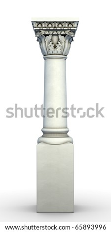 Beautifully detailed 3d render of a greek column